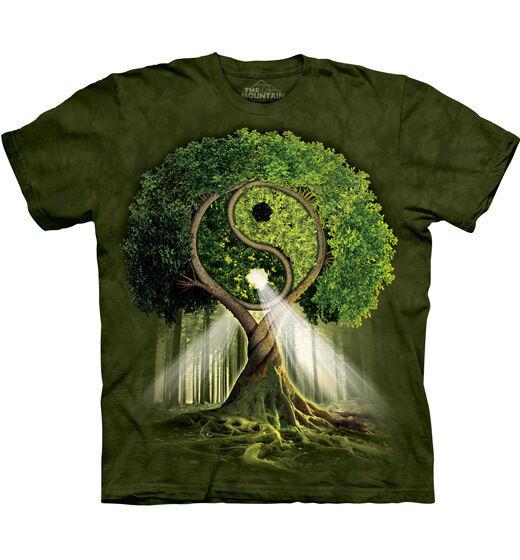 The Mountain T-Shirt Yin Yang Yang Yang Tree Lebensbaum Esoterik Fantasy  S - 4XL | Stilvoll und lustig  | Gewinnen Sie das Lob der Kunden  f20e24