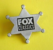 Promotional Metal Badge/Lapel Pin - FOX CLASSICS Sheriff's Badge - Aussie Cable
