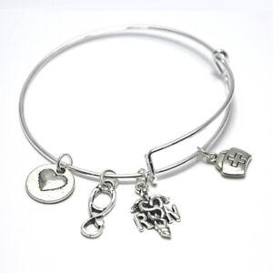 Image Is Loading Nurse Charm Bracelet Reciation Rn Gifts Registered