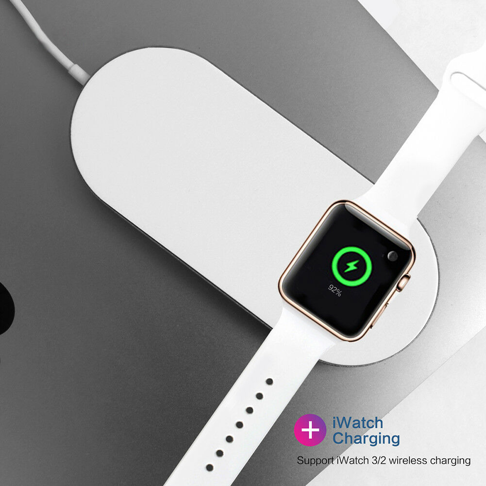 2 in 1 Fast Wireless Phone Watch Charger Dock for Apple iWat