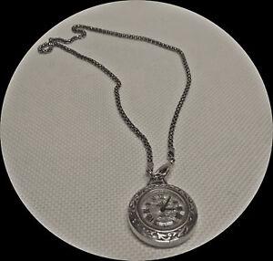 Aus Dem Ausland Importiert Mechanische Damenuhr Kettenuhr Taschenuhr Versilbert Herzfeld Vintage 100% Garantie Antikschmuck Taschenuhren