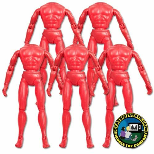 Set of 5 Red 8 inch Retro Male Bodies