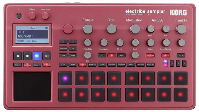 Korg electribe échantillon RD ELECTRIBE2S-RD Rouge Métallique