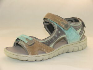 a6f20cc739e8 Womens Josef Seibel Stefanie 23 Green Multi Open-Toe Walking Sandals ...