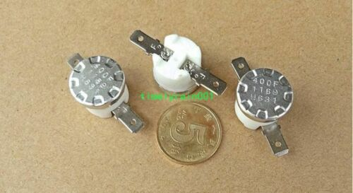 5pcs 204℃ overheating protection Thermostats 165℃ automatic recovery