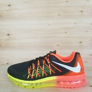 best service 06d10 d39bb Image is loading NIKE-AIR-MAX-2015-RUNNING-SHOES-BLACK-WHITE-