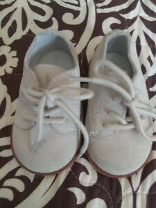 Boys-Light-Beige-Suede-Dress-Shoes-Ralph-Lauren-Brand-Size-3-Months