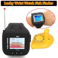 Lucky 200ft/60m Wrist Watch Wireless Sonar Fish Finder With Wireless Clock Mode