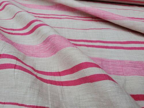 tela del vestido por Metro Tela de algodón//rayón Efecto De Lino /'raya/'