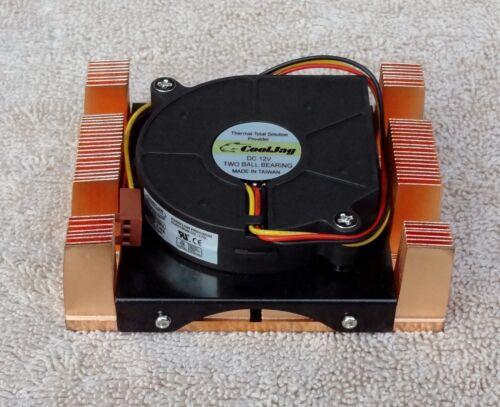 NEW Cooljag Socket 603 604 Full Copper 1U CPU Heatsink Fan Cooler Intel Xeon