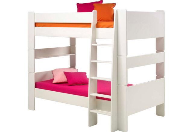 Etagenbett Weiss Gebraucht : Etagenbett weiß mit gerader leiter steens for kids mdf günstig