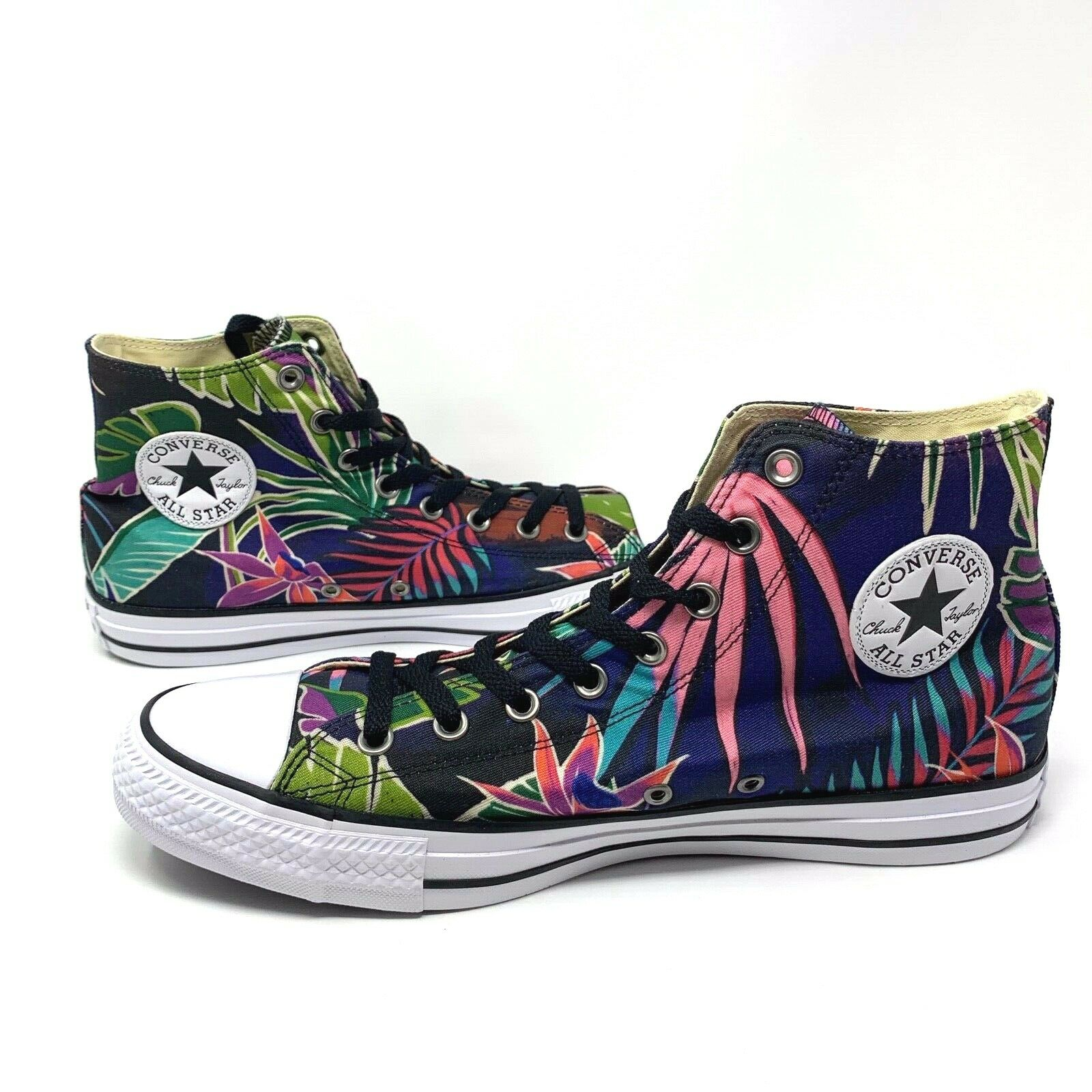 Converse Chuck Taylor All Star Palm Tree Floral Fuchsia Glow Size 11 155393c New