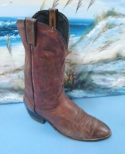 7bcb4b81ca9 Details about LAREDO MENS BROWN LEATHER COWBOY BOOTS SZ 9.5 EE