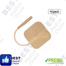 8 RE-USABLE PADS, FOR TENS 3000, 2X2 TAN CLOTH, SELF-ADHERING MULTY STICK GEL