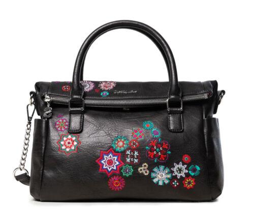 DESIGUAL Bols Nanit Loverty Negro Damentasche Handtasche Henkeltasche