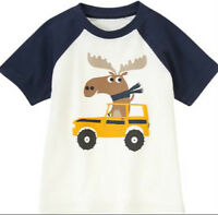 Gymboree Strait A Athlete Moose Driver Raglan Top Tee Size 2 2t