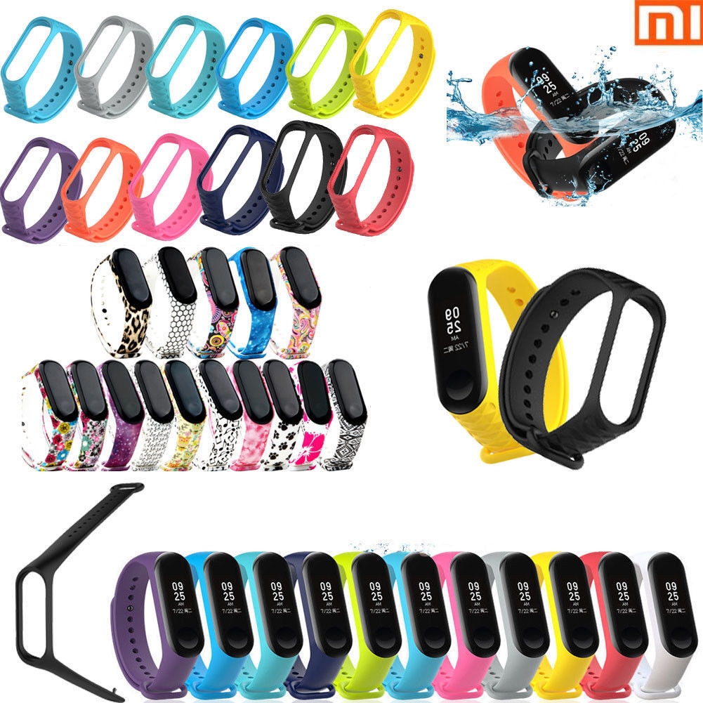 Xiaomi Mi Band 3 Adjustable Bangle Soft Silicone Strap Wristband Bracelet @@
