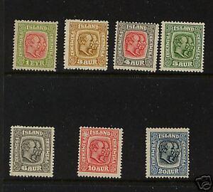 Iceland  99-107    Mint  catalog  $405.00