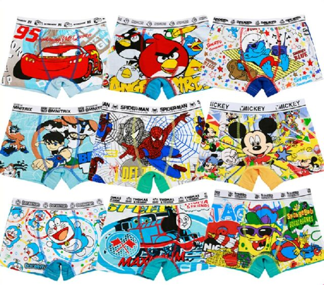 12 Pieces a Dozen Cartoon Cotton Boxer Underwear Underpant for Boys Kid 2T-9T