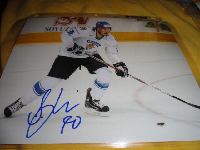 Team Finland Sami Lepisto Autographed Signed 8x10 COA TWO