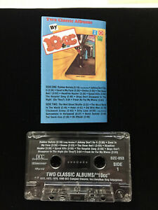 """10CC Two Classic Albums on 1 Cassette Tape!  self titled """"10CC"""" and Sheet Music"""