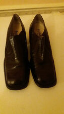 Baldinini Shoes Chocolate Brown Leather Heels Size 7