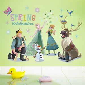 Cartoon Diy Frozen Princess Elsa Anna Wall Stickers Girl Children Room Anna 2