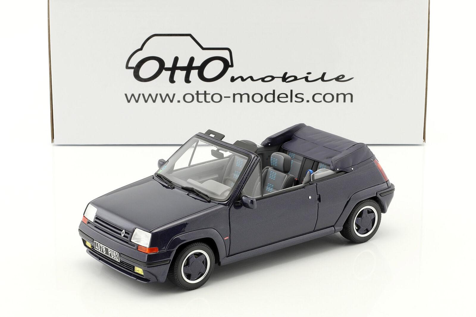 Renault 5 GT Turbo Cabriolet by EBS Baujahr 1990 bleu 1 18 OttOmobile