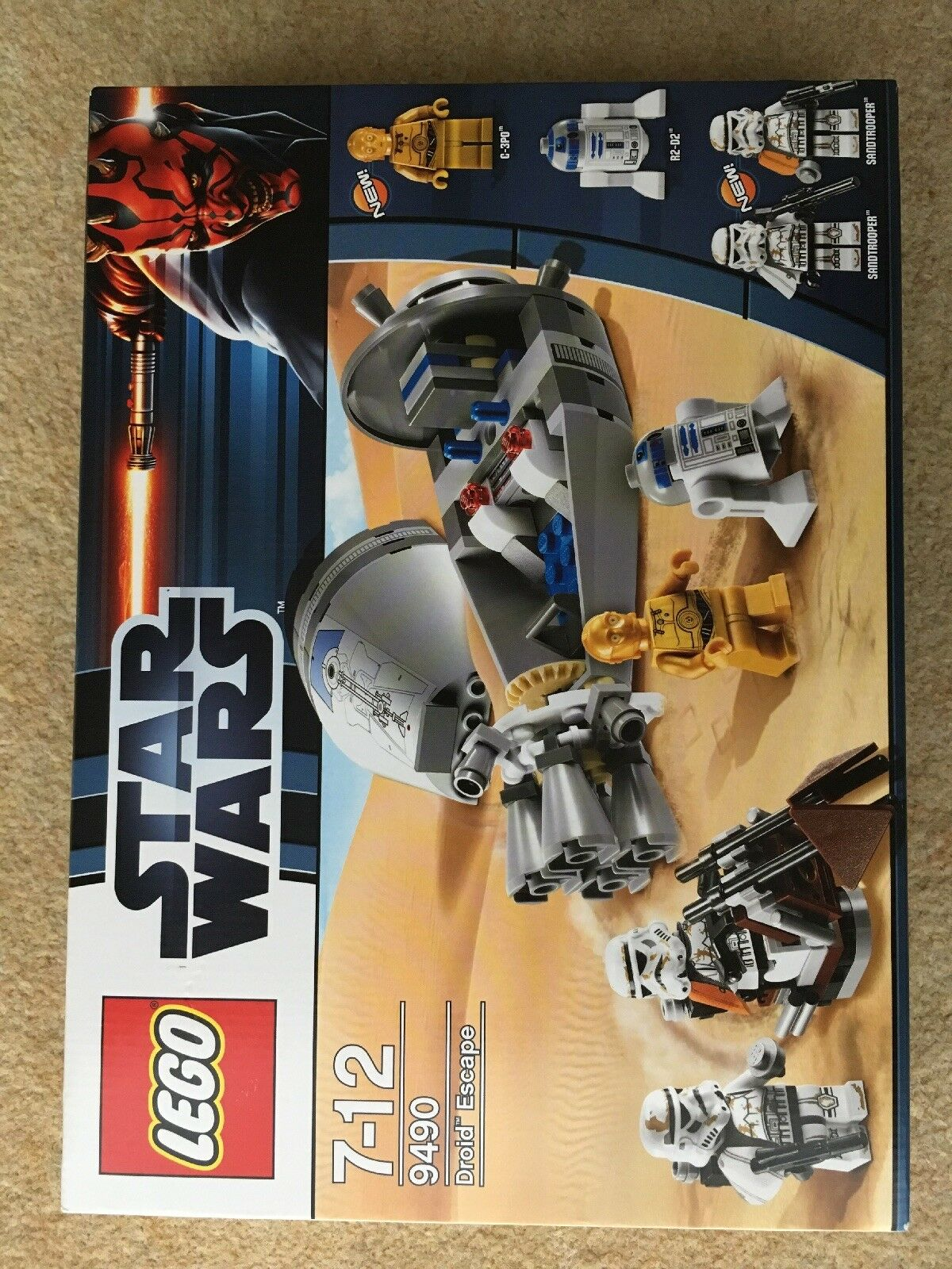 Lego 9490 - Star wars Droid Escape - 2012 Factory sealed - New