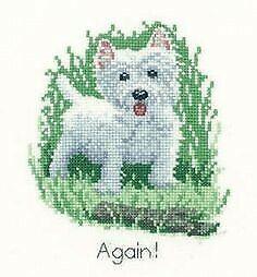 It/'s a Dog/'s Life Westie Cross Stitch Kit