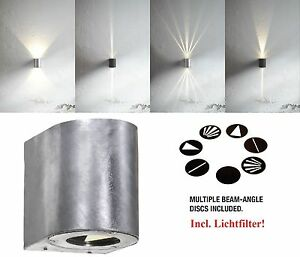 Designer-LED-Outdoor-Wall-light-Canto-Nordlux-2x5W-700Lm-3000K-galvanized
