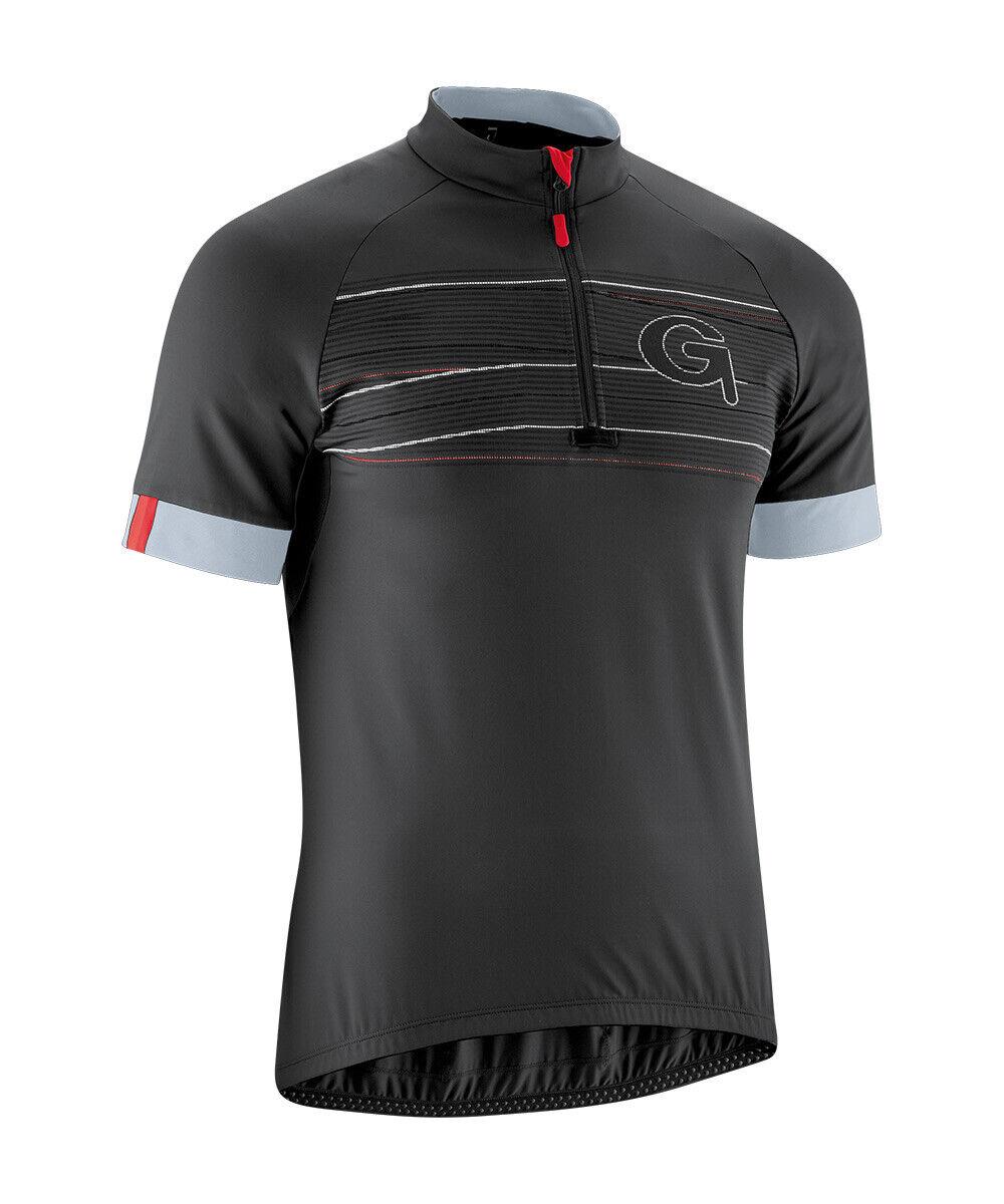 GONSO - LEON - Radtrikot, Bikeshirt, Fahrradtrikot - kurzarm - schwarz