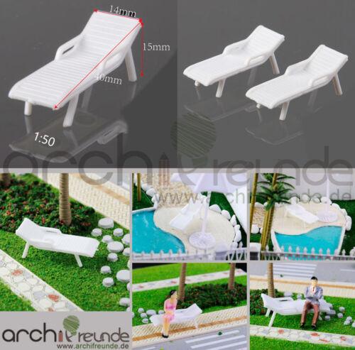 2 x modelo tumbona sillas de playa sillas modelo ferroviario 1:50//75//87 pista 0//00//h0