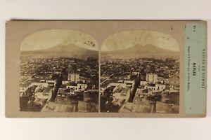 Italia-Panorama-Da-Napoli-c1858-Foto-Po-039-di-Tempo-amp-Tournier-Vintage-Albumina