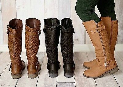 WOMENS KNEE HIGH MILITARY RIDING BOOTS