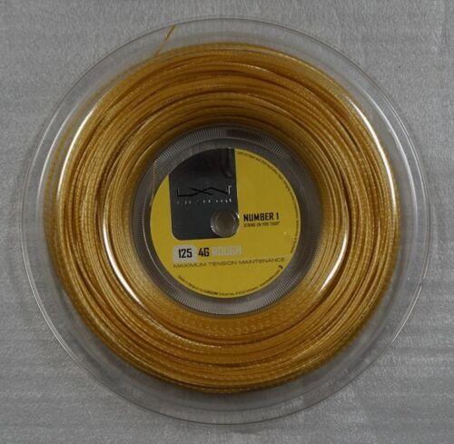 New LUXILON Tennis String 4G ROUGH 125 Reel, Gold, 200m/660Ft 16 gauge