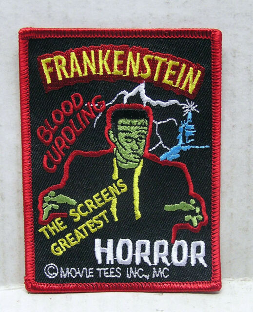 "FRANKENSTEIN Classic Horror Poster Logo 3"" Embroidered Patch (UMPA-001)"