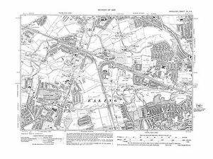 Old-map-Ealing-N-Greenford-Perivale-Northolt-E-1935-Middlesex-repro-15-NE