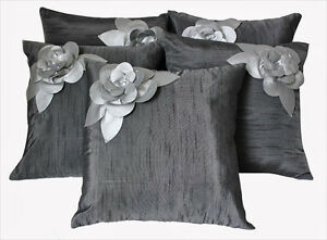 Dekor World Floral Cushion Cover (Pack Of 5)