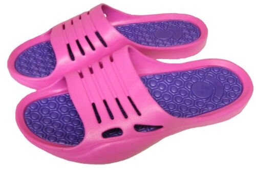 Womens Beach Pink-Navy-Lilac Flip Flops Garden Holiday Shoes Sandals Mules sizes