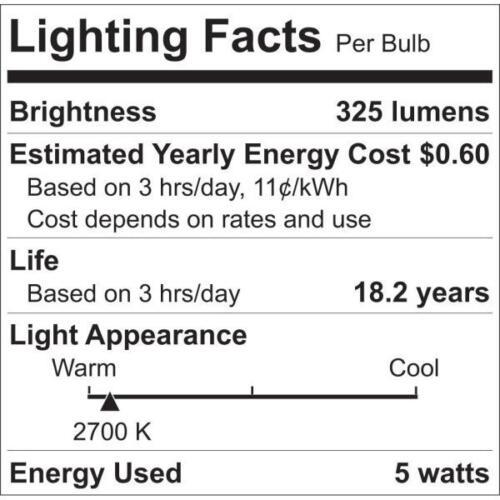12-Pack Eco Smart 40W Equivalent Soft White B11 Clear Decorative LED Light Bulb