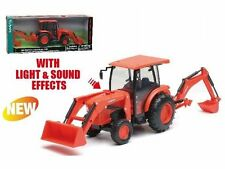 NEWRAY 1:18 KUBOTA L6060 TRACTOR WITH BACKHOE AND LOADER SS-33123
