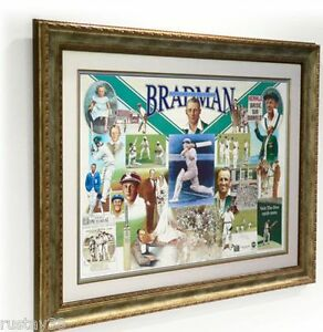 SIR-DONALD-BRADMAN-HAND-SIGNED-FRAMED-FIRST-LAST-ALWAYS-LIMITED-EDITION-PRINT