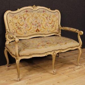 Divano laccato mobile italiano in legno dorato salotto stile antico ...