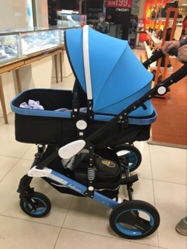 Baby Stroller Newborn Carriage Infant Travel Car Folding Pram 2 in 1 Pushchair F