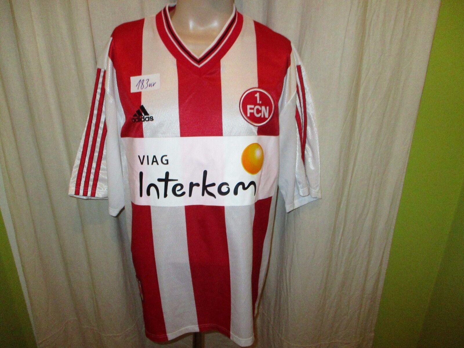 1.FC Nürnberg Original Adidas Heim Trikot 1998 99  Viag Interkom  Gr.XL- XXL TOP