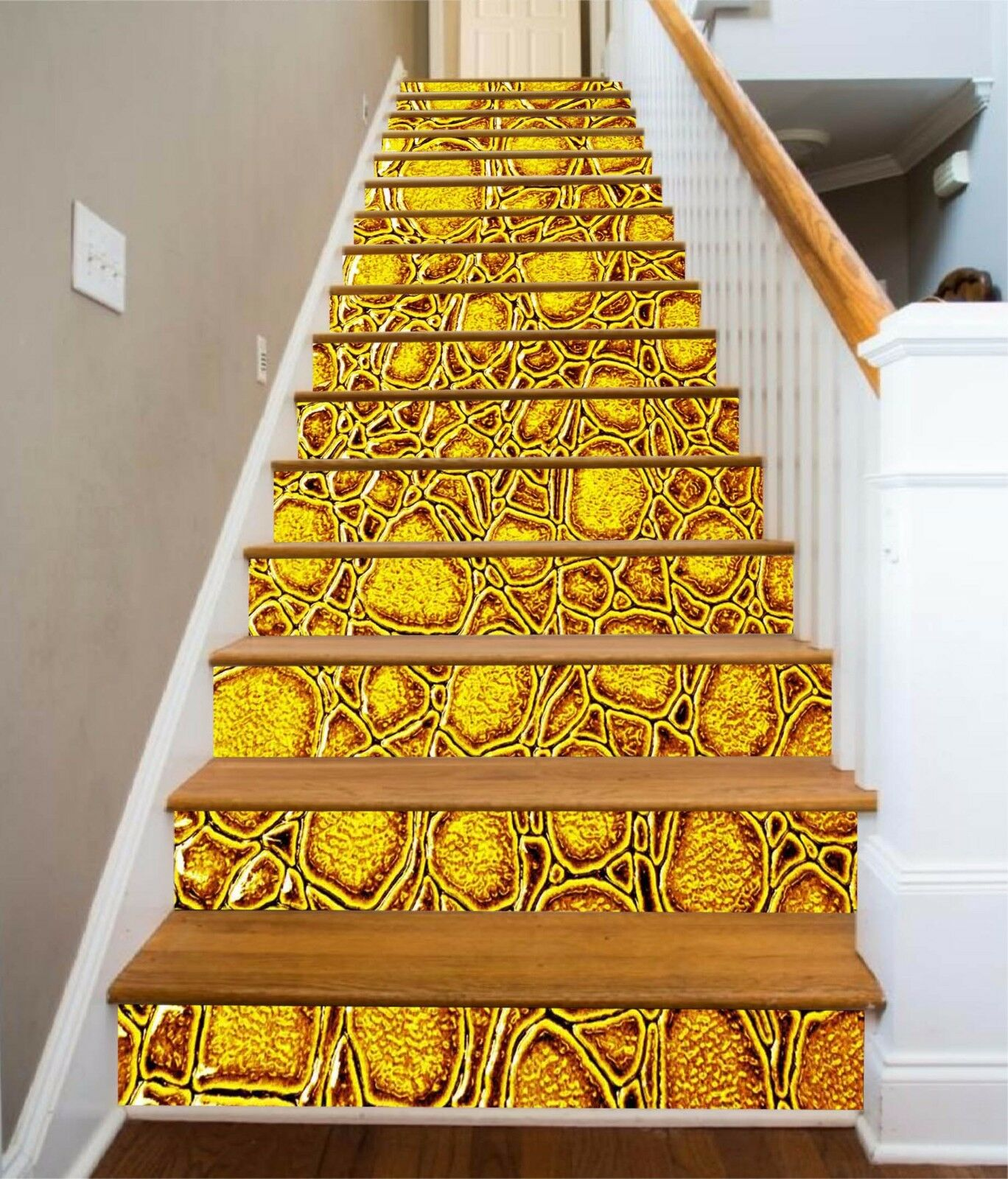3D Golden Pattern 654 Risers Decoration Photo Mural Vinyl Decal Wallpaper CA