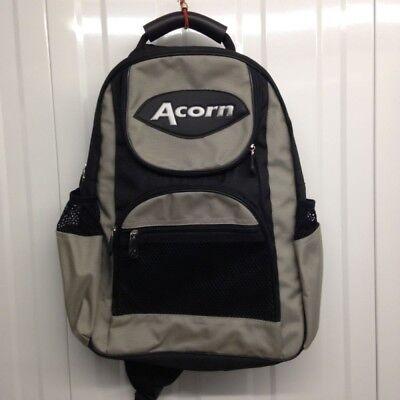"""""""acorn Cross Spalla Ciclismo/bmx/skate Zaino-nero E Argento-ate Rucksack - Black And Silver It-it In Viaggio"""