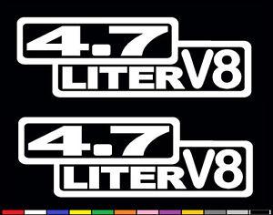 2 V8 7.5 LITER 460 CUBIC INCHES DECAL SET EMBLEM WINDOW STICKERS FENDER BADGES