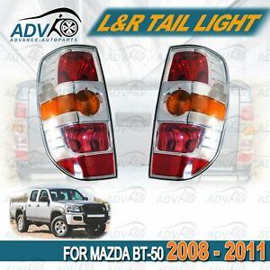 LH-RH-Tail-Lights-For-Mazda-BT50-DX-SDX-Ute-Pickup-2008-2011-Pair-Chrome